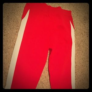 Olivia Culpo High Waisted Stripe Track Pant